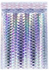 """Size #2 (8.5""""x11"""" Interior) Metallic Holographic Bubble Mailer (Heavy Style) with Peel-N-Seal"""