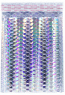 """Size #1 (7.25""""x11"""" Interior) Metallic Holographic Bubble Mailer (Heavy Style) with Peel-N-Seal"""