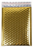 """Size #2 (8.5""""x11"""" Interior) Metallic Gold Bubble Mailer (Heavy Style) with Peel-N-Seal"""