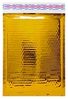 """Size #1 (7.25""""x11"""" Interior) Glamour Gold Bubble Mailers with Peel-N-Seal"""