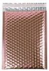 "Size #0 (6.5""x9"" Interior) Metallic Rose Gold Bubble Mailer (Heavy Style) with Peel-N-Seal"