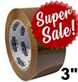 "3""x110Y DuraTape® Tan Carton Sealing Tape (**SUPER SALE**)"