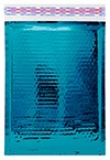 """Size #00 (5""""x9"""" Interior) Glamour Metallic Teal Bubble Mailers with Peel-N-Seal"""