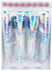 "Size #000 (4.25""x7"" Interior) Glamour Hologram Bubble Mailers with Peel-N-Seal"
